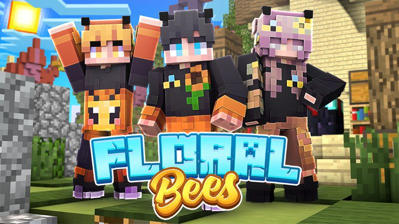 Floral Bees on the Minecraft Marketplace by Sapphire Studios