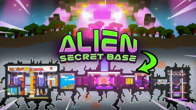 Alien Secret Base on the Minecraft Marketplace by BLOCKLAB Studios