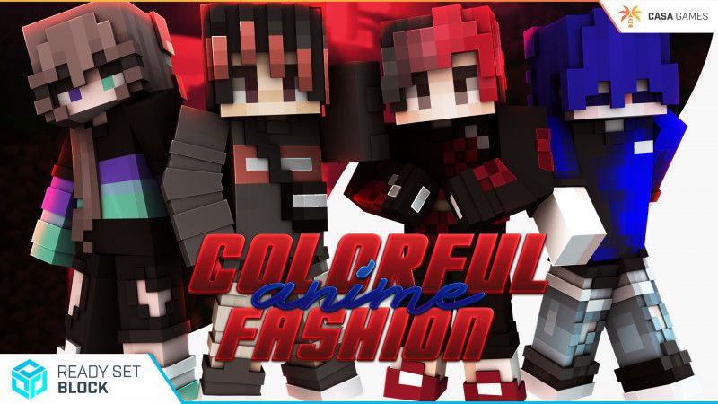 Colorful Anime Fashion on the Minecraft Marketplace by Ready, Set, Block!