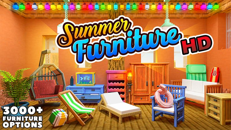 Summer Furniture HD on the Minecraft Marketplace by Kreatik Studios