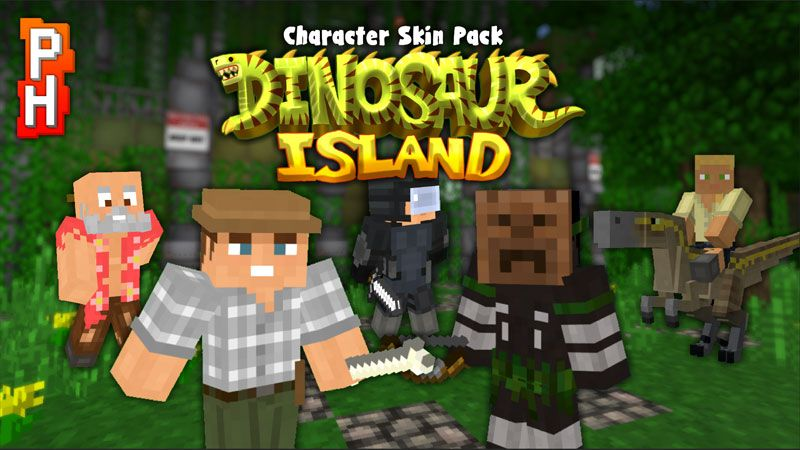Dinosaur Island Characters on the Minecraft Marketplace by PixelHeads
