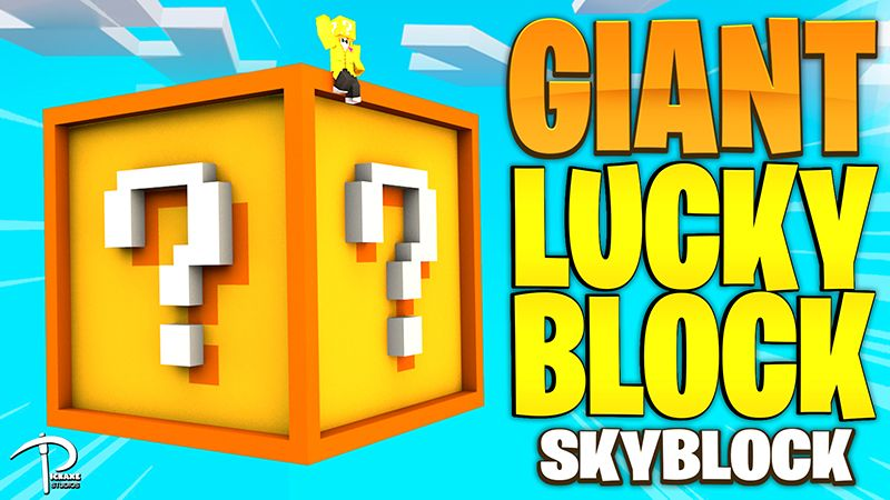 Lucky Blocks GIANT Skyblock on the Minecraft Marketplace by Pickaxe Studios