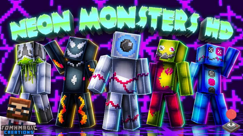 Neon Monsters HD on the Minecraft Marketplace by Tomhmagic Creations