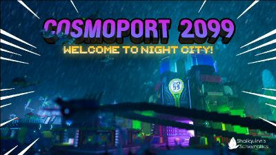 Cosmoport 2099 on the Minecraft Marketplace by Shaliquinn's Schematics