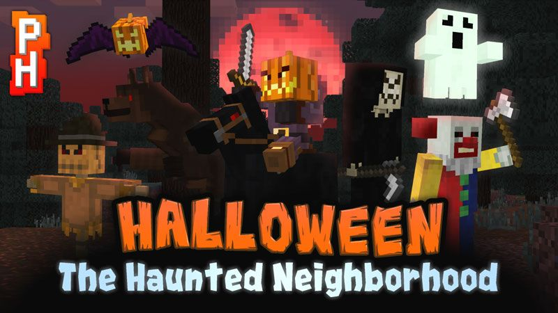 The Haunted Neighborhood on the Minecraft Marketplace by PixelHeads
