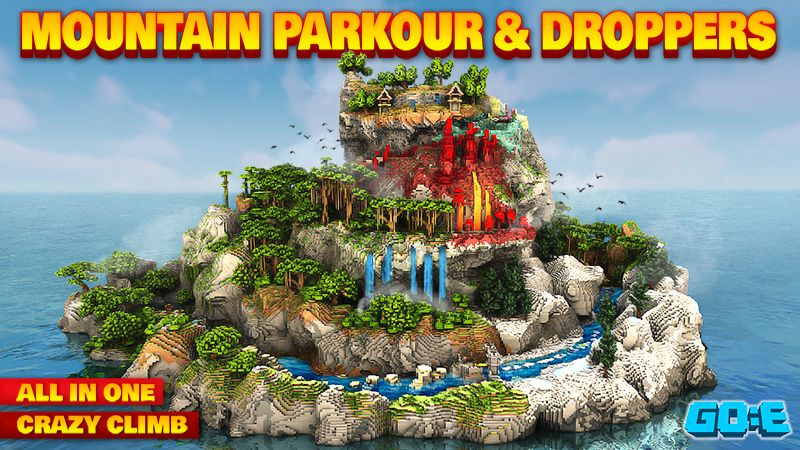 Mountain Parkour  Droppers on the Minecraft Marketplace by GoE-Craft