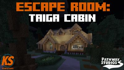Escape Room Taiga Cabin on the Minecraft Marketplace by Pathway Studios