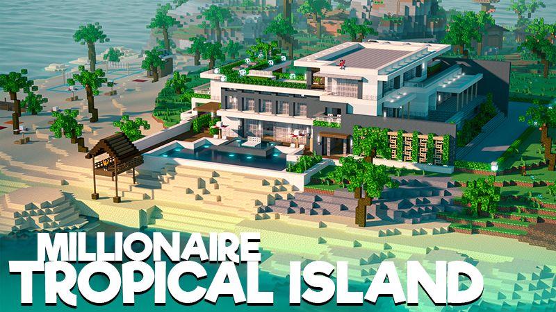 Millionaire Tropical Island on the Minecraft Marketplace by 4KS Studios