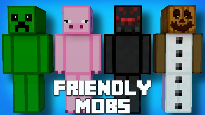 Friendly Mobs on the Minecraft Marketplace by Pixelationz Studios