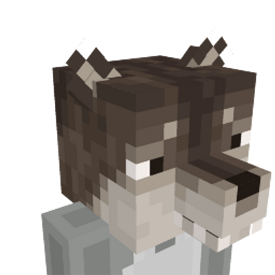 Wolf Head on the Minecraft Marketplace by Mine-North