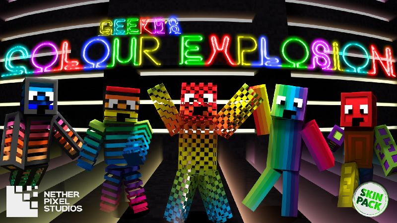 Geekys Colour Explosion on the Minecraft Marketplace by Netherpixel