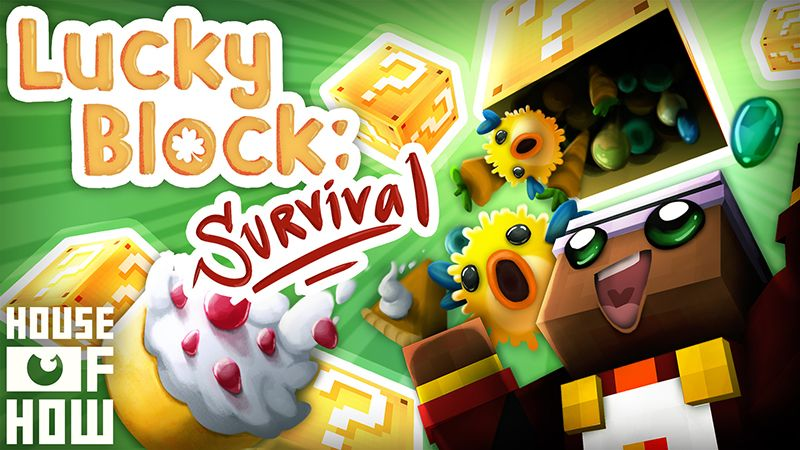 Lucky Block Survival on the Minecraft Marketplace by House of How