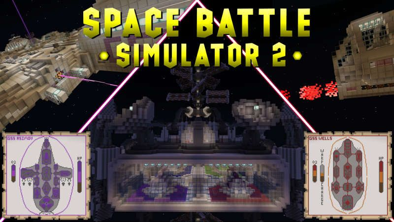 Space Battle Simulator 2 on the Minecraft Marketplace by QwertyuiopThePie