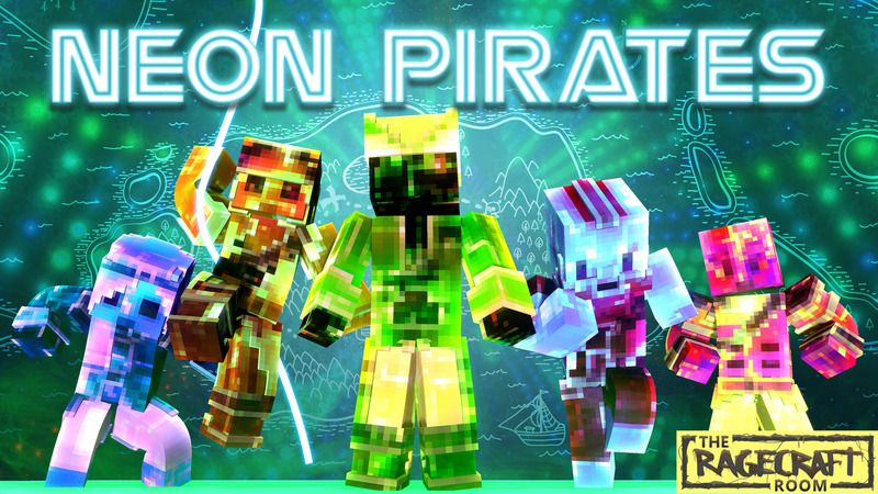 Neon Pirates on the Minecraft Marketplace by The Rage Craft Room