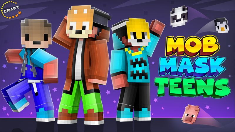 Mob Mask Teens on the Minecraft Marketplace by The Craft Stars