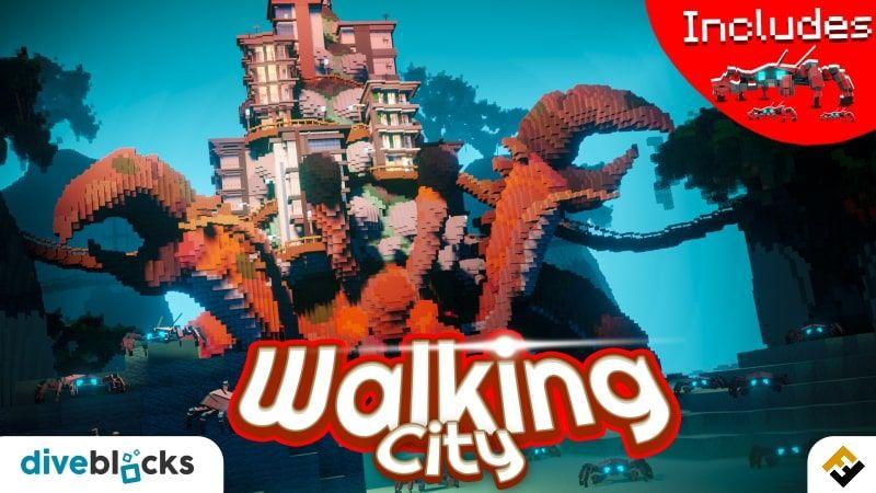 Walking City on the Minecraft Marketplace by Diveblocks