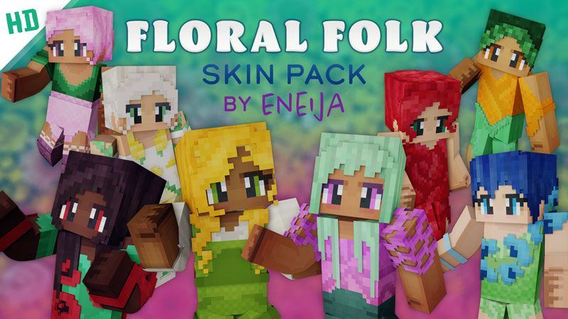 Floral Folk HD Skin Pack on the Minecraft Marketplace by Eneija