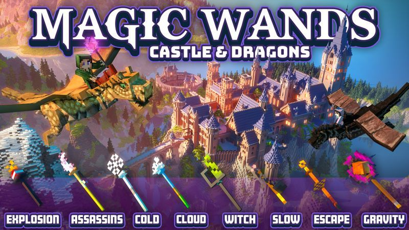Magic Wands Castle  Dragons on the Minecraft Marketplace by Cubed Creations