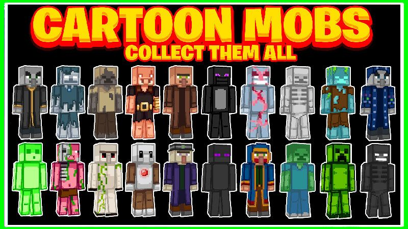 Cartoon Mobs on the Minecraft Marketplace by Dig Down Studios