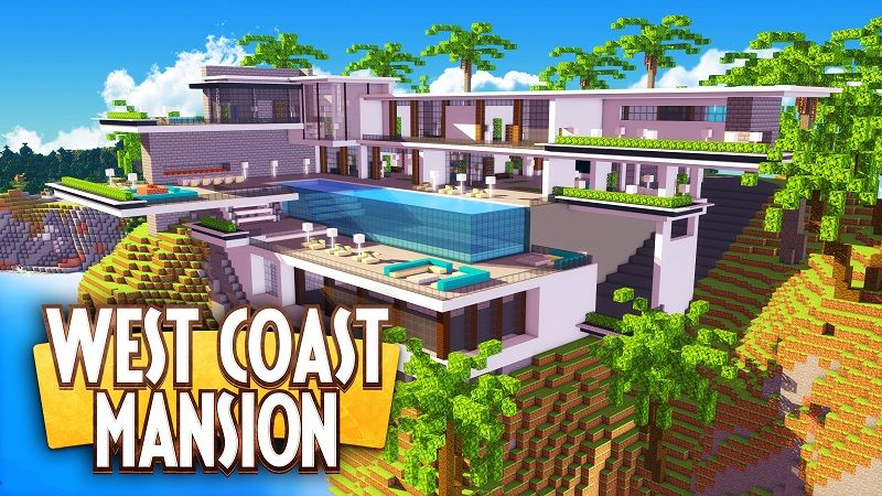 West Coast Mansion on the Minecraft Marketplace by Nitric Concepts