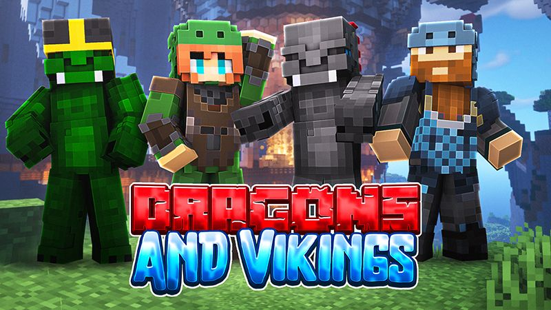 Dragons and Vikings on the Minecraft Marketplace by Sapphire Studios
