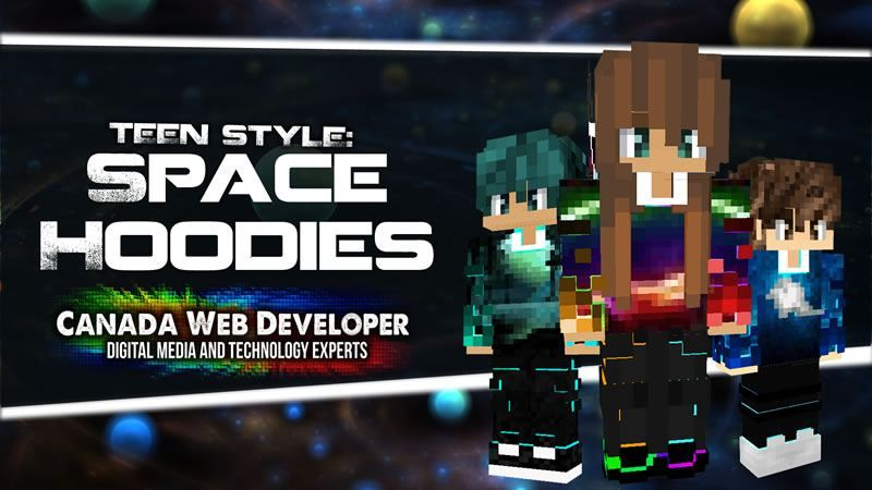 Teen Style Space Hoodies on the Minecraft Marketplace by CanadaWebDeveloper