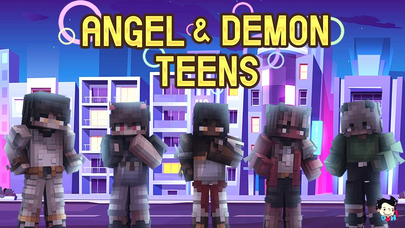 Angel and Demon Teens on the Minecraft Marketplace by Duh