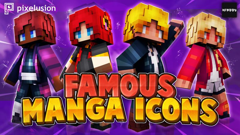 Famous Manga Icons on the Minecraft Marketplace by Pixelusion