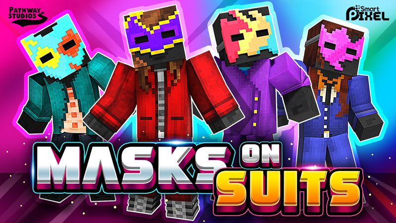 Masks on Suits on the Minecraft Marketplace by Pathway Studios
