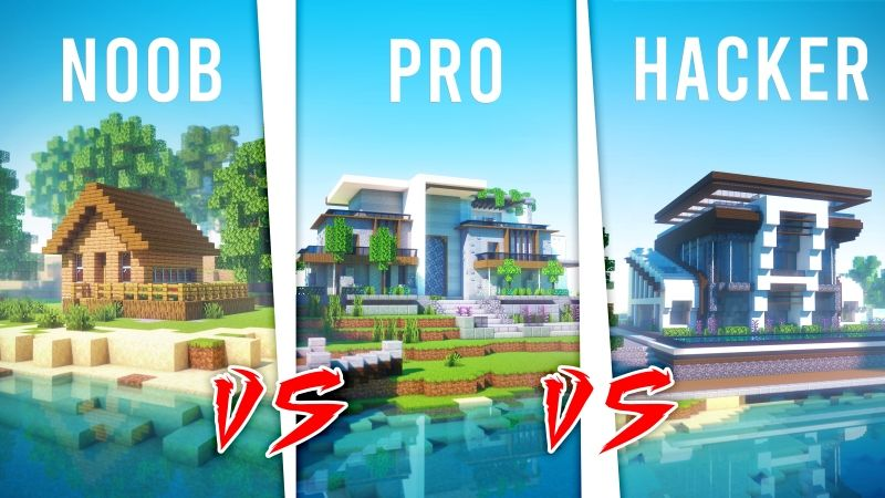 Noob vs Pro vs Hacker on the Minecraft Marketplace by Cubed Creations