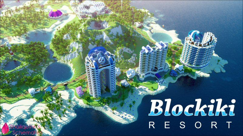 Blockiki Resort on the Minecraft Marketplace by Shaliquinn's Schematics