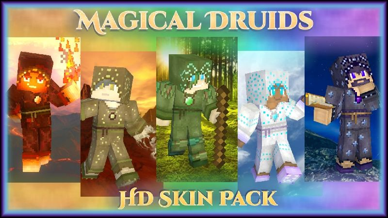 Magical Druids HD Skin Pack on the Minecraft Marketplace by HearttCore Creations