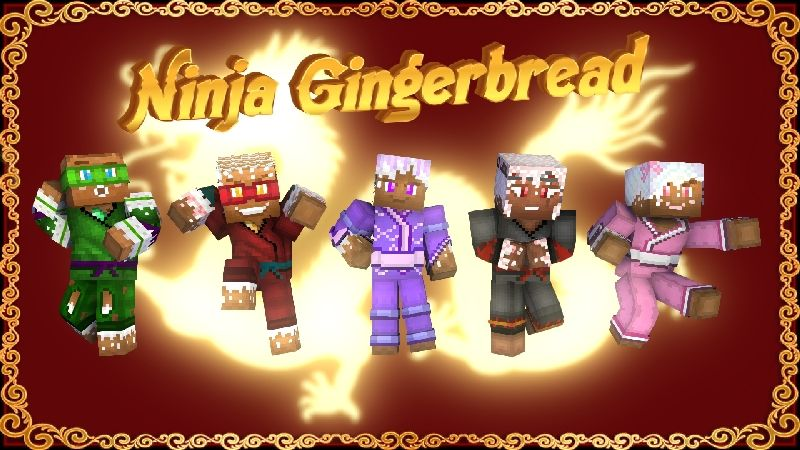 Ninja Gingerbread HD Skin Pack on the Minecraft Marketplace by HearttCore Creations