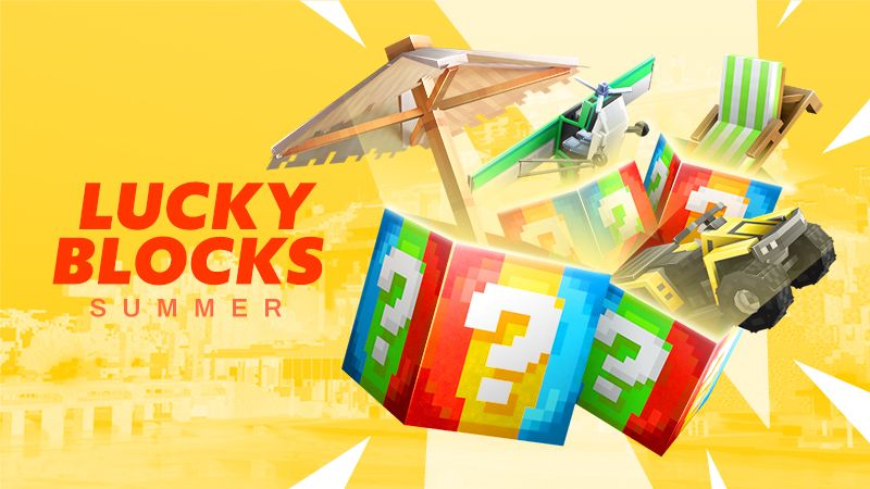 Lucky Blocks Summer on the Minecraft Marketplace by Spark Universe