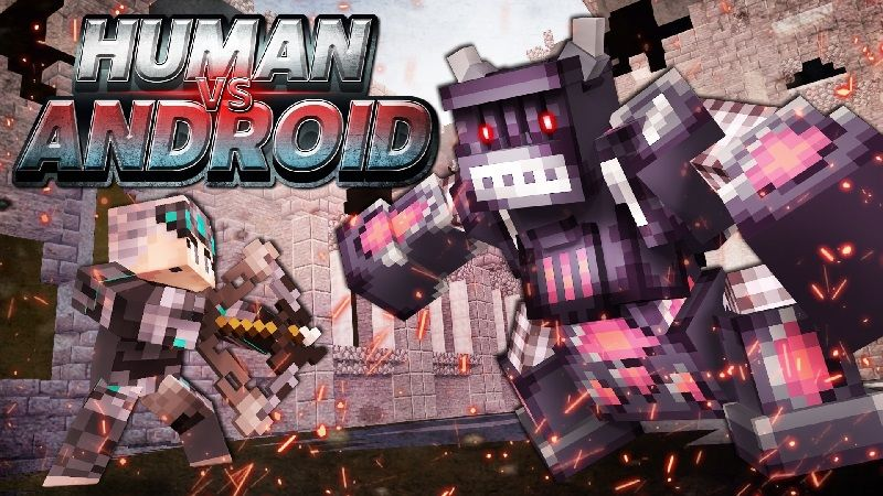 Human vs Android on the Minecraft Marketplace by Sandbox Network