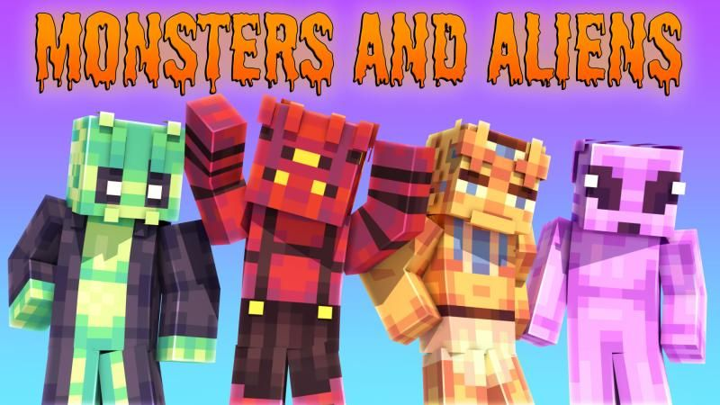 Monsters and Aliens on the Minecraft Marketplace by Podcrash