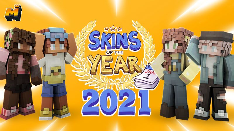 Skins of the Year 2021 on the Minecraft Marketplace by Mineplex