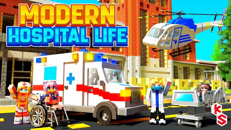 Modern Hospital Life on the Minecraft Marketplace by Kreatik Studios