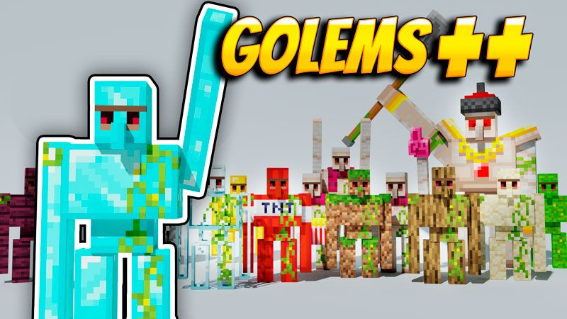 Golems on the Minecraft Marketplace by VoxelBlocks
