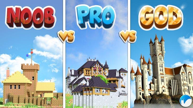Noob VS Pro VS God Castles on the Minecraft Marketplace by Snail Studios