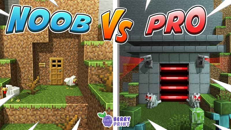 Noob vs Pro Ultimate Base on the Minecraft Marketplace by Razzleberries