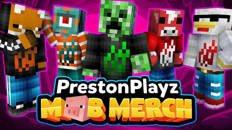 PrestonPlayz Mob Merch on the Minecraft Marketplace by Meatball Inc