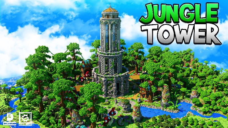 Jungle Tower on the Minecraft Marketplace by Gearblocks