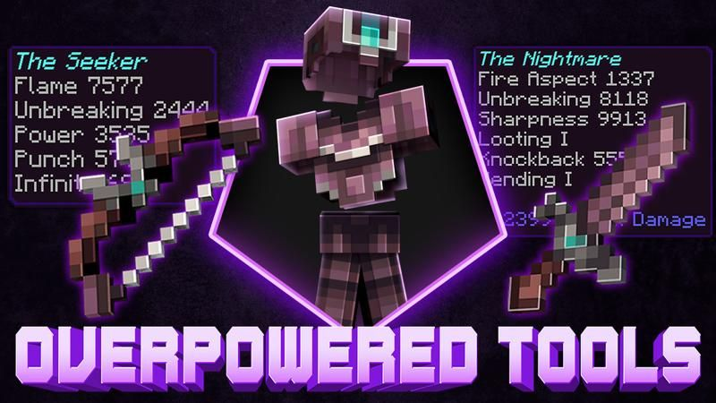 Overpowered Tools on the Minecraft Marketplace by 4KS Studios