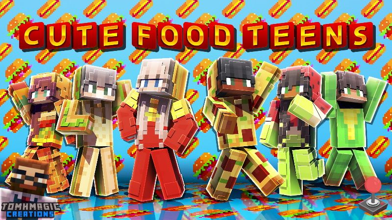 Cute Food Teens on the Minecraft Marketplace by Tomhmagic Creations