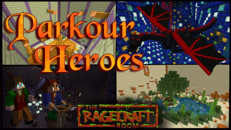Parkour Heroes on the Minecraft Marketplace by The Rage Craft Room