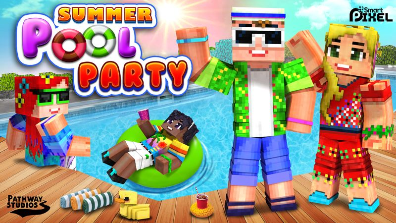 Summer Pool Party on the Minecraft Marketplace by Pathway Studios