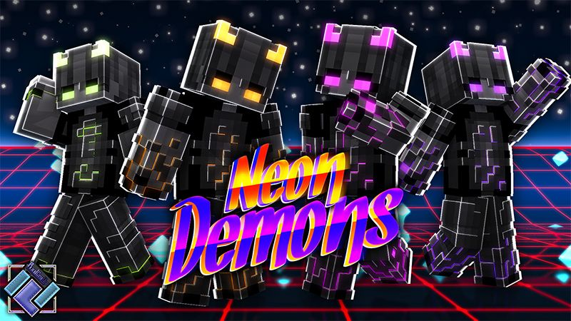 Neon Demons on the Minecraft Marketplace by PixelOneUp