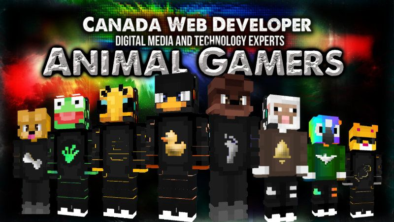 Animal Gamers on the Minecraft Marketplace by CanadaWebDeveloper