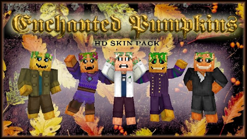 Enchanted Pumpkins HD Skinpack on the Minecraft Marketplace by HearttCore Creations
